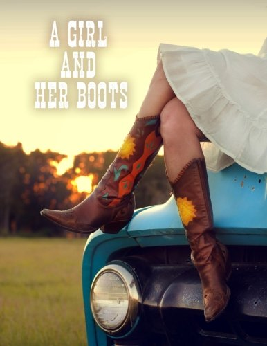 A Girl and Her Boots: Discreet Internet Website Password Organizer, Large Print Book, 8 1/2 X 11