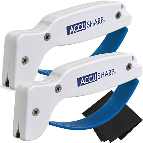 AccuSharp Sharpener 2Pack with ZCloth Bundle