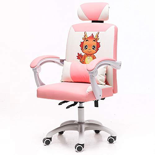 CWW Silla Gaming Profesional Reforzada con Estructura de Metal Respaldo con Mecanismo de Mariposa reclinable en 160 Grados reposabrazos 3D Rosa