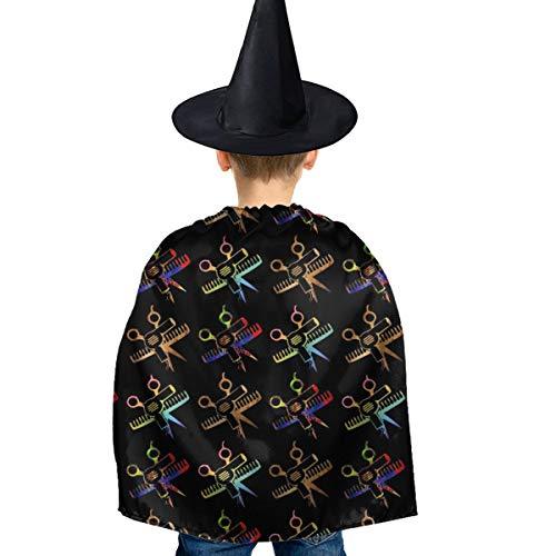 Amoyuan Unisex Kids Kerstmis Halloween Heks Mantel Met Hoed Schaar Kam Haar Stylist Wizard Cape Fancy Jurk