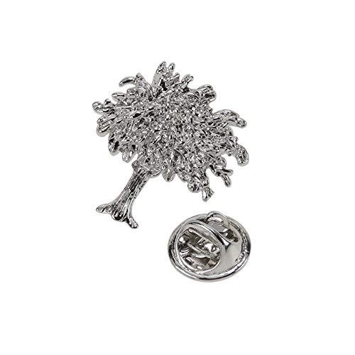 JYDJR Vintage Metall Kupfer Herren Anzug Kleid Pflanze Dorn Nadel Hut Baum Brosche Kurze Pin