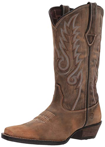 Durango Women's Dream Catcher Western Boot Mid Calf, Distressed Brown and Tan, 9 M US