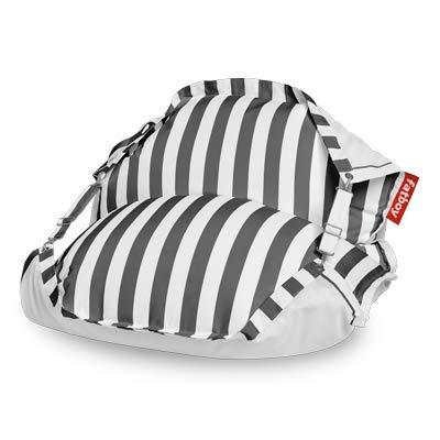 Fatboy® Original Floatzac Stripe Anthracite | Sitzsack an Land & im Wasser | Schnelltrocknender & schwimmender Wasser-Sitzsack | 180 x 134 cm