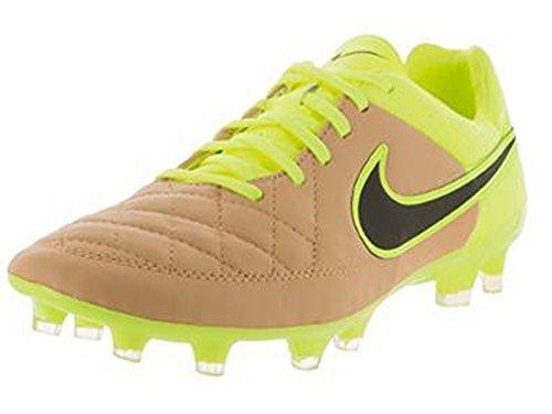 Nike Tiempo Genio Il Leather FG, Scarpe da Calcetto Uomo, Multicolore (Pure Platinum/Black), 42 EU