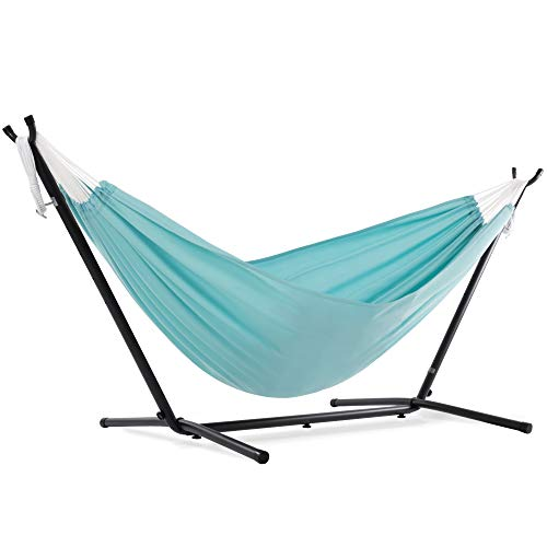 Vivere C9POLY-13 Double Polyester Hammock with Space Saving Steel...