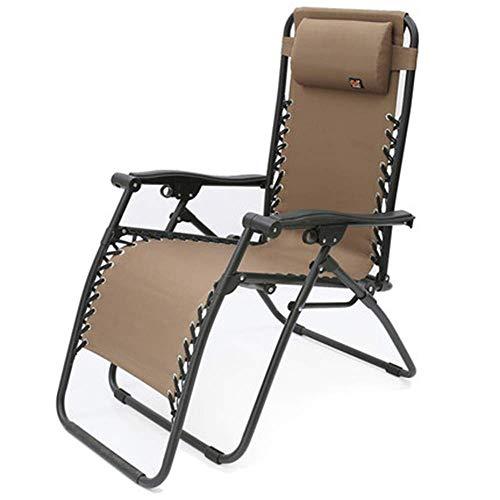 GenericBrands Tumbona de jardín, Relajante, reclinable, sillas de jardín, Textoline Resistente a la Intemperie, Plegable y multiposición con reposacabezas