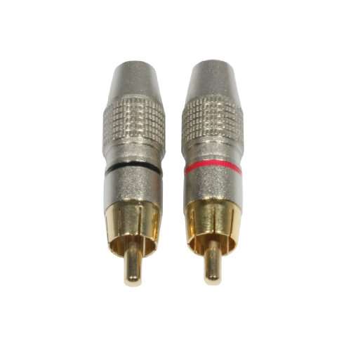 Accu set di cavo connettore maschio cavo RCA dorati