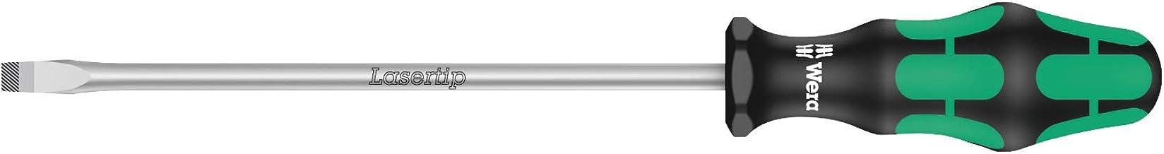 Wera 05110011001 Kraftform Plus 334 Slotted Screwdriver, Lasertip, 7mm Head, 7 Inch Blade Length