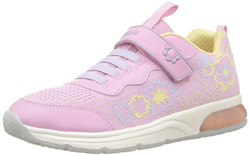 Geox J SPACECLUB Girl A, Zapatillas Niños, Rosa (Pink/Yellow C0786), 30 EU