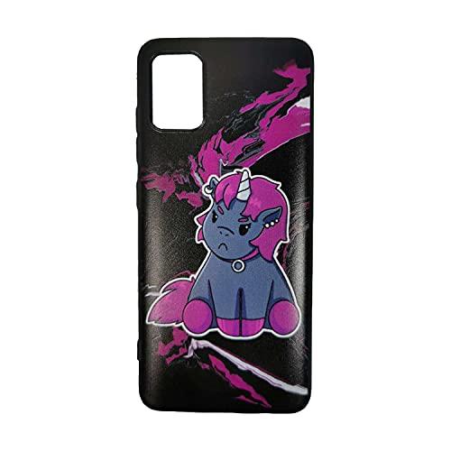 Corimori – Grumpy Ruby, Handyhülle, Samsung Galaxy S9, Cooles Schutzcase für viele Verschiedene Handys, Schwarz Lila