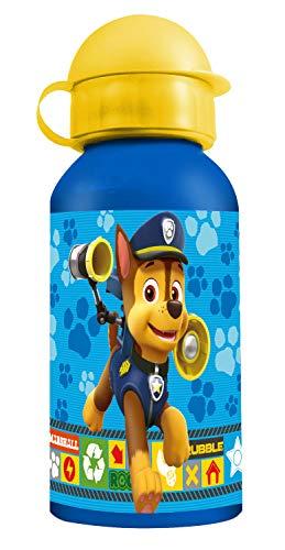 POS 25290 - Trinkflasche mit Paw Patrol Motiv, aus Aluminium, bpa- und phthalatfrei, Fassungsvermögen circa 400 ml, ideal für Unterwegs, Schule und Sport, für Jungen und Mädchen