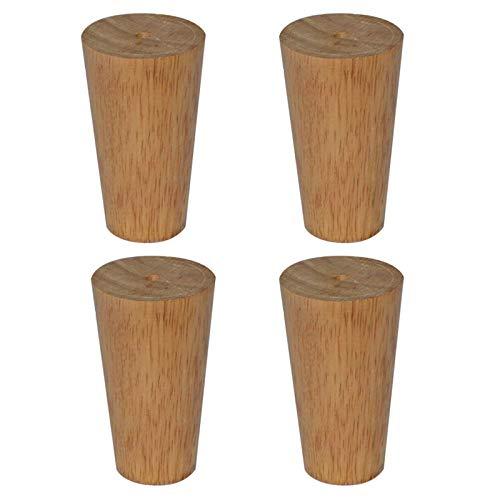 Holzmöbelbeine,Konische Sofabeine,DIY-Tischbeine,Geeignet für Couchtische,TV-Schrankbetten usw. (12cm/4.72in)
