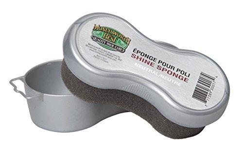 Moneysworth & Best Neutral Shoe Shine Sponge Polish Brush Boots Cleaner M&B