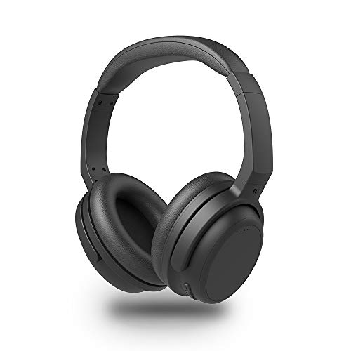 AKSONIC Athlete Bluetooth Headphones Over Ear Headset aptX Low Latency Wireless with Mic, Dual Device Connection, Comfortable Protein Leather Earpads Works with Metal Detector