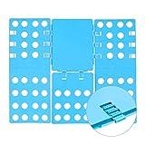 Relaxdays Wäschefalter 4. Generation, platzsparend, 68 x 57 cm, Wäschefalter für Shirts, Hemden, flexibel, Flip, Fold, blau
