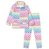 Girls Warm Winter Pajamas Kids Fleece Pjs Set Plush Fleece Sleepwear,Size 8 9