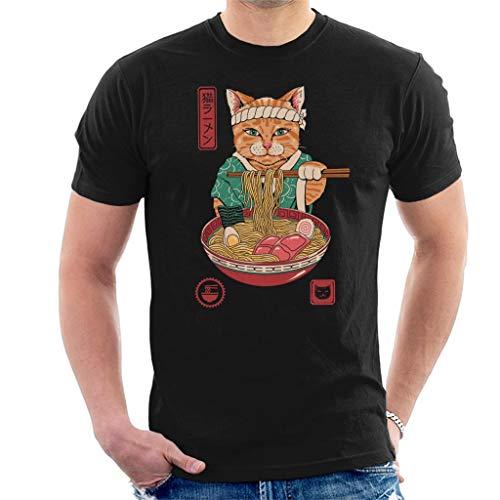 Cloud City 7 Japanese Maneki Neko Lucky Charm Ramen Cat Ramen Men's T-Shirt