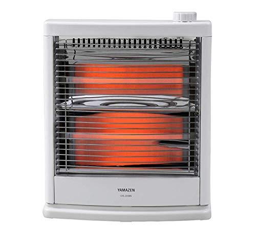 [山善] 電気ストーブ(800W/400W 2段階切替) ホワイト DS-D086(W) [メーカー保証1年]