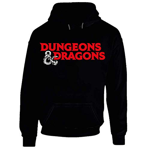 Dungeons and Dragons - Felpa con cappuccio per videogiochi, gioco di ruolo Nero XXX-Large