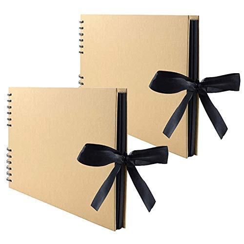Lawei Lot de 2 x 80 Pages Album photo scrapbooking fait à la main DIY pour Adhesif Mariage Valentin De noël Anniversaire