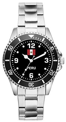 Perú peruaner regalo Fan Artículo accesorios Reloj 6330