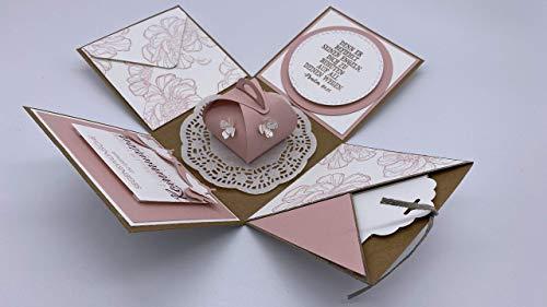 Explosionsbox zur Konfirmation, Kommunion oder Taufe (Geschenk, Geschenkverpackung) für Junge oder Mädchen, individuell und handgefertigt