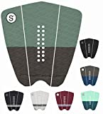 SYMPL Surfboard Traction Pad 3-Piece Deck Pad for Surfing, Skimboarding, Maximum Grip, 3M Adhesive - Fits Surfboards, Skimboard, Longboard