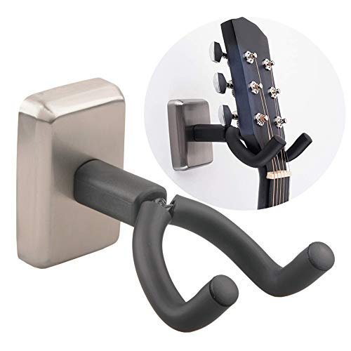 Wgwioo Soporte De Pared para Guitarra, Soporte De Soporte De Bajo De Acero Inoxidable para Guitarras De Todos Los Tamaños