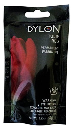 Dylon 87048 Permanent Fabric Dye, 1.75-Ounce, Tulip Red