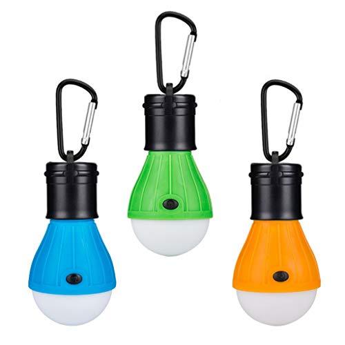 LED Notlampe Campinglampe mit Karabiner...