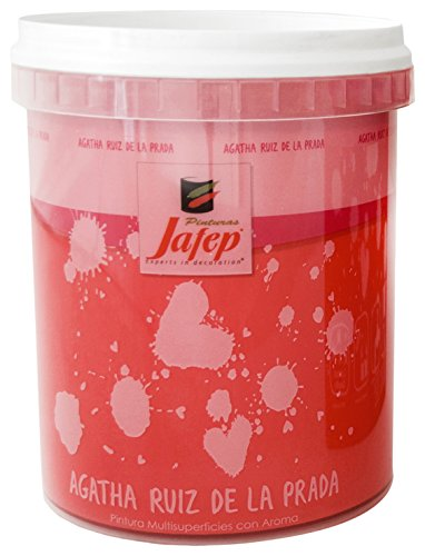 Jafep 24761031 Esmalte acrílico, Rojo (Carmín), 750 ml