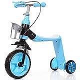 Explopur Triciclo Scooter 2 en 1 para niños con Freno de Mano - Equilibrio para...