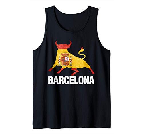 Barcelona España Bandera Tauromaquia Camiseta sin Mangas