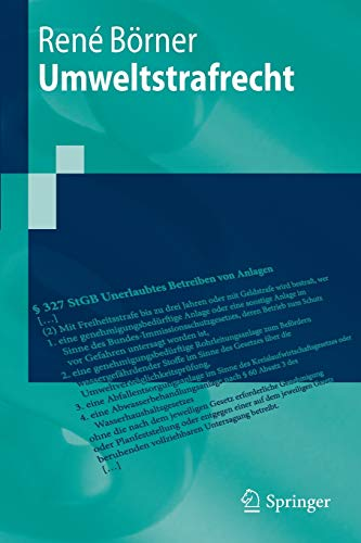 Umweltstrafrecht (Springer-Lehrbuch)