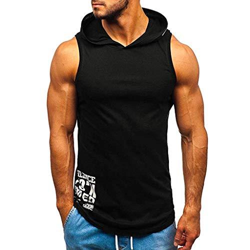 serliy😛Herren Tank Top Ärmellos Kapuze Fitness Tops Quick Dry Gym Muskelshirt Bodybuilding Atmungsaktiv Sport t-Shirt