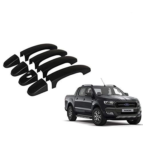 JHCHAN Türgriffabdeckung Türgriffschützer Schwarz für Ford Ranger T6 T7 T8 2012-2020 PX MK1 MK2 MK3 XL XLT Wildtrak Limited 2 (manueller Türgriff)