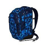 Satch match Schulrucksack - ergonomisch, erweiterbar auf 35 Liter, extra Fronttasche - Blue Crush - Blau