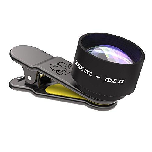 Black Eye Tele X3 universele smartphone-lens, zwart/geel