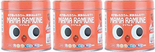 【3個セット】ママラムネ(いちごミルク風味)200粒