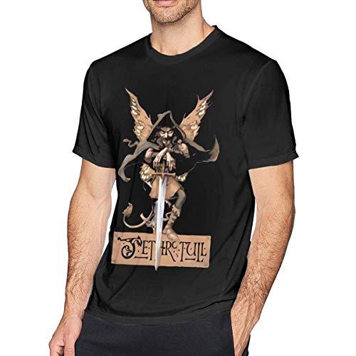 SOTTK Camisetas y Tops Hombre Polos y Camisas, Jethro Tull Mens Fashion T Shirt Cotton tee Shirts Short Sleeve