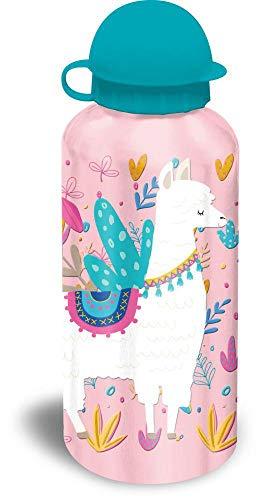 Kids Licensing- Set Regalo Alpaca SANDWICHERA Y Botella 500 ML, Multicolor, 40 cm (KL10062)