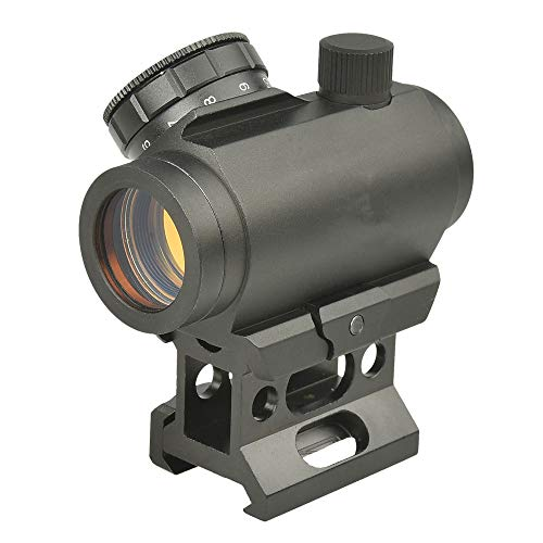 Minidiva 4 MOA Micro Red Dot Sight 1x25mm Rifle Scope with High Rail 20mm Weaver Mount