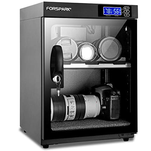 FORSPARK Camera Dehumidifying Dry Cabinet |8W 30L-Noiseless & Energy Saving - For Camera Lens & Electronic Equipment Storage