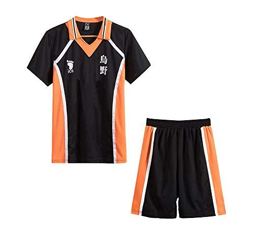 Chloe Ferguson 9 Stile Haikyuu Cosplay Kostüm Karasuno High School Volleyball Club Hinata Shouyou Sportswear Trikots Uniform (Haikyuu 2,S)