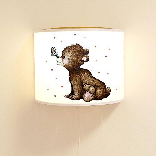 ilka parey wandtattoo-welt Wandlampe Kinderlampe Lese Schlummerlampe Schlummerleuchte Lampe süßer Bär Bärenlampe Punkte ls77