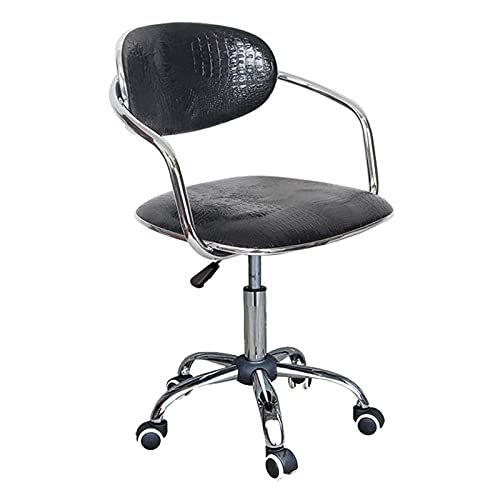 VERDELZ Staff Chair/Bar Chair, Ergonomic Design, Lifting and Rotating Function, Crocodile Pattern, Stainless Steel Frame, High Load-Bearing Gravity