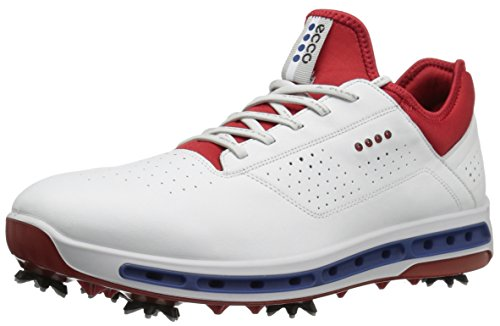 ECCO Herren Men's Golf COOL Golfschuhe, Weiß (50431WHITE/TOMATO), 41/41.5 EU
