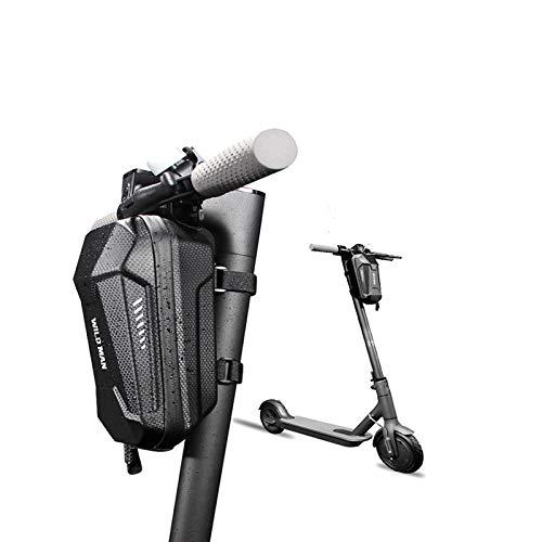 Konesky Scooter Electrico Bolsa de Manillar, Impermeable EVA Concha Dura Equilibrar Bolsa de Tubo Frontal Gran Capacidad Compatible con Xiaomi M365 ES1 ES2 ES3 ES4 (2L) ✅