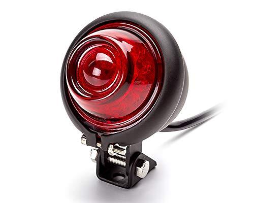 Motorrad LED Rücklicht Ampel Bates Stil für Vintage Retro Individuell Projekt - Schwarz