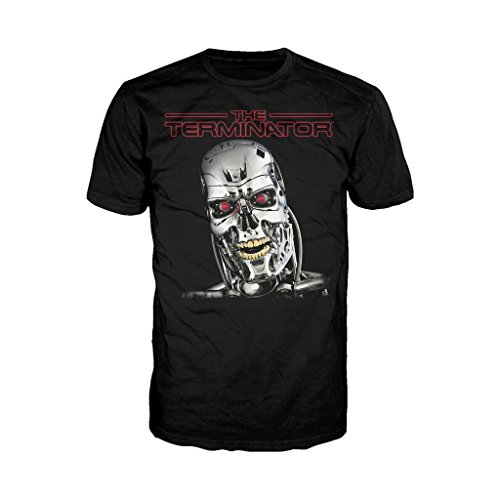 Ther Terminator T-800 Head T-shirt, Officially Licensed